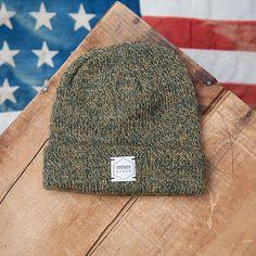 29d43e5fec9 Olive Melange One Size Ragg Wool 85% USA Wool 15% USA Nylon Beanie
