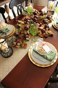 Fall Tablescape and Thankful printable