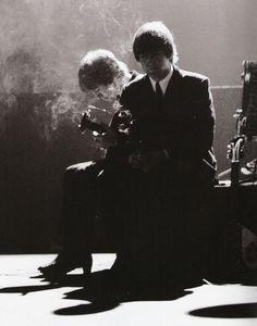 George Harrison & John Lennon, October 1964