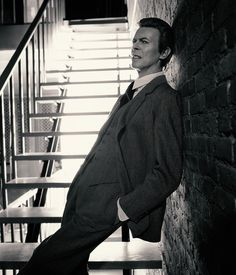 """davidssecretlover: """" Markus Klinko about the Heathen photo shoot and Bowie's looks from the past: """"There's an image in the press release where he leans on a brick wall, I feel like there's a bit of Ziggy Stardust in his expression there, different..."""