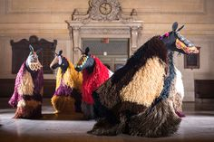NickCave - public art project - collaborated with Creative Time and MTA Arts for Transit to commission 60 dancers from The Ailey School to perform in wearable works of art that combine fashion, sound design, and sculpture.
