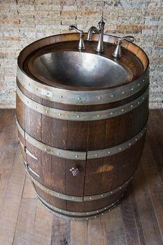 1000+ ideas about Wine Barrel Sink on Pinterest | Barrel Sink ...