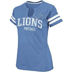 Detroit Lions Go For Two Split Neck T-Shirt