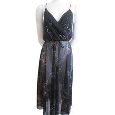Sheer Floral Sundress Vintage 1970s Black Dress LBD  $22  - Offers accepted, mail to: vanityflairvintage@gmail.com        https://www.rubylane.com/item/676693-CLO16-57/Sheer-Floral-Sundress-Vintage-1970s-Black