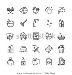 Find Vector Cleaning Services Flat Outline Icons stock images in HD and millions of other royalty-free stock photos, illustrations and vectors in the Shutterstock collection. Cleaning Icons, Cleaning Services, Bullet Journal Icons, Bullet Journals, Banks Icon, Icon Package, Visual Thinking, Visual Literacy, Sketch Notes