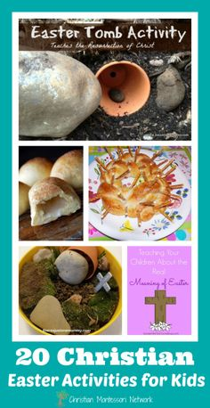 A huge list of Christian Easter hands-on activities for your kids from Christian Montessori Network.