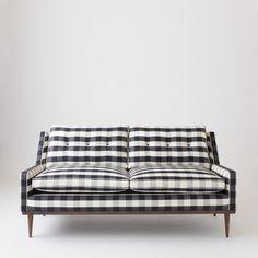 Jack Loveseat- Windowpane Plaid   Sofas   Furniture #chasingthelight