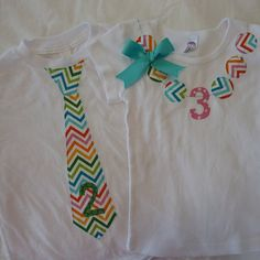Make shirts like these.  2 for Daddy and Asher, and 2 for Mommy and Serah!  So cute!