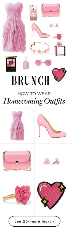 """""""Brunch"""" by raghad2007 on Polyvore featuring Casetify, Valentino, Marc by Marc Jacobs, Yves Saint Laurent, Essie, Ralph Lauren, Christian Lacroix and Stoney Clover Lane"""