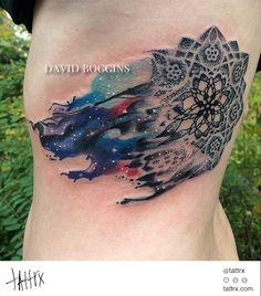 David Boggins - Carl Sagan inspired Cosmic Mandala  tattrx.com/artists/david-boggins
