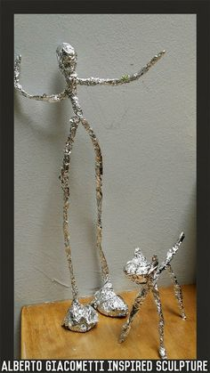 me ~ Pin on Art and Craft Ideas ~ Giacometti inspired stick man. Great figurine to use for story time : stickman (book by Julia Donaldson) Sculpture Lessons, Sculpture Projects, Paper Mache Sculpture, Sculpture Art, Aluminum Foil Crafts, Tin Foil Art, Middle School Art Projects, Alberto Giacometti, Wire Art