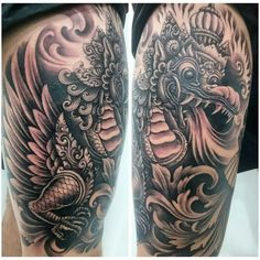 Balinese dragon tattoo