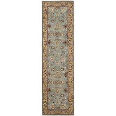 Safavieh Handmade Heritage Timeless Traditional Blue/ Gold Wool Runner (2'3 x 16') | Overstock.com Shopping - The Best Deals on Runner Rugs