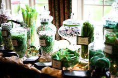 Green Candy Buffet Idea