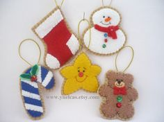 Felt Christmas Ornament  Tree Ornaments Christmas by ynelcas