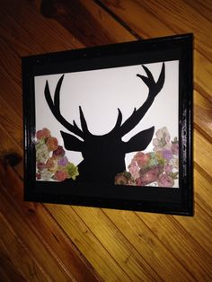 I am loving how my deer silhouette painting turned out...it is hanging on the dining room wall.