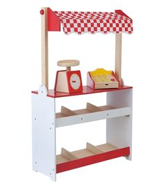 wooden Hema shop 60 x 24 x 96 cm - HEMA Games For Kids, Diy For Kids, Play Grocery Store, Diy Kids Kitchen, Fabric Awning, Cardboard Furniture, Color Box, Kids Corner, Hobbies And Crafts
