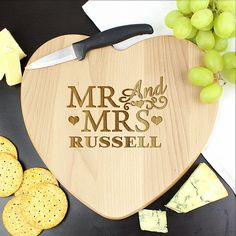 Personalised-Mr-and-Mrs-Wooden-Heart-Chopping-Board Gifts By Occasion,, Father of the Groom, Backpacks