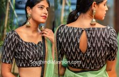 10 Stylish Readymade Cotton Blouse Designs 2019 For Summer! Readymade cotton blouse designs 2019 for sarees by House Of Blouse buy online, trendy and stylish neck patterns, latest designs, high neck Kalamkari Blouse Designs, Cotton Saree Blouse Designs, Blouse Neck Patterns, Saris, Black Blouse Designs, House Of Blouse, High Neck, Stylish Blouse Design, Cotton Blouses