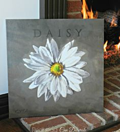 Daisy Painting On Canvas Inspirational Bunny Wall Art & Giveaway Redhead Can Decorate
