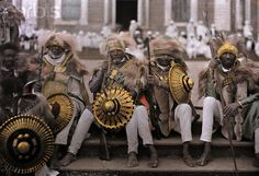 Ethiopian war veterans of the First Italo-Ethiopian War of 1896 just before being departed to the front during the Second Italo-Abyssinian W...