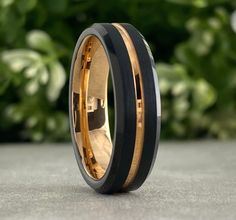 Gold Tungsten Ring Men Women Wedding Bridal Band 8MM Classic Elegant Polish Design Size 5 to 15 His or Her Anniversary Engagement Love Gift