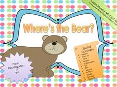 "{{FREEBIE}}This is a fun, interactive game that teaches basic spatial concept skills. Present these flashcards to your kiddos and have them fill in the blank by saying, ""Where's the Bear?"" This pack includes spatial concepts:BesideNext toOver UnderIn betweenOff OnAboveIn frontInsideBehindOutside 36 Flash cards includedLeave me some feedback and please enjoy!!-SpeechMeMaybe :)"