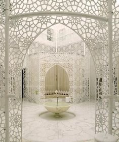 White lace-The Royal Mansour Hotel in Marrakech, Morocco