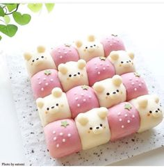 Image may contain: food shared by frannieredman Japanese Food Art, Japanese Sweets, Cute Desserts, Dessert Recipes, Kawaii Cooking, Cute Baking, Food Art For Kids, Kawaii Dessert, Cafe Food