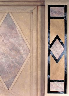 FOYER - faux marble panels and hand-painted trompe l'oeil architectural elements
