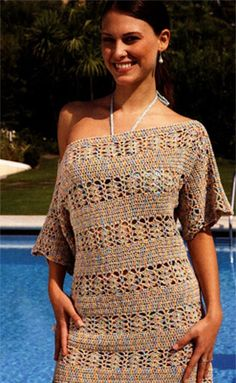 Beach Dress free crochet graph pattern....I would adjust pattern for a tunic length top
