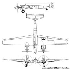 "The Messerschmitt Me 261 drawing of V1 and V2   The DB 606 ""power systems"" were originally developed for both the single-""engined"" Heinkel He 119 high-speed reconnaissance aircraft, and the Heinkel He 177 strategic bomber, but the Me 261's design which  housed the DB 606 ""power systems"" in much bether nacelles granting much better access for maintenance than the Heinkel heavy bomber ever possessed. The Problems Which the He177 had (in flight Fires) never occured with the Me 261"
