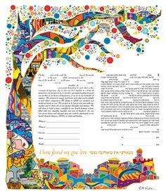 Interfaith Ketubahs : Ketubot : Katuba : KetubahStore.com  - - - - - The rainbow of colors is exactly the same as spiritual experience: wide and beautiful.