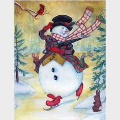 Snow Pals, snowmen, snowman art from master painter of all things Christmas, Joseph Holodook Vintage Christmas Cards, Christmas Snowman, Vintage Cards, Winter Christmas, Christmas Time, Christmas Crafts, Christmas Decorations, Xmas, Frosty The Snowmen
