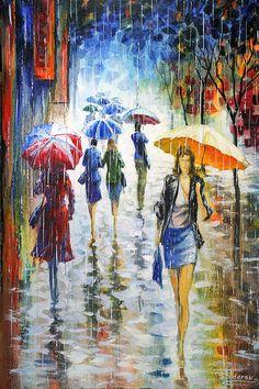 walking in the rain... by stanislav sidorov