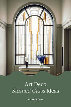When it comes to translating these patterns into glass form, you'd be surprised how seamless it can be, not to mention how contemporary it looks. Need a little more convincing? Scroll on for six art deco stained glass ideas that breathe new life into an old-school trend. #hunkerhome #artdeco #stainedglass #artdecoideas Casa Art Deco, Art Deco Decor, Art Deco Design, Decoration, Art Deco Style, Art Deco Hotel, Estilo Art Deco, Interiores Art Deco, Interiores Design