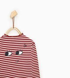 ZARA - KIDS - Stripes and eyes top