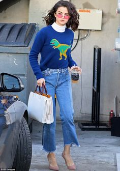 Pop on a playful intarsia sweater by Coach #DailyMail  Click 'Visit' to buy now