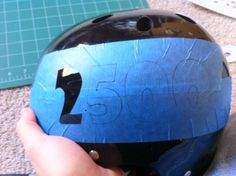 DIY Masking and Painting Helmets