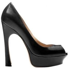 $183  Yves Saint Laurent Palais peep-toe platform pumps