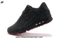 Nike Air Max 90 VT PRM QS Mens Anti-Fur red gray carbon For Sale