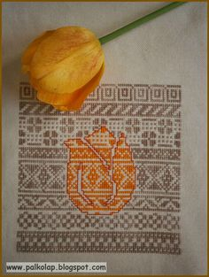 cool idea for embroidery, pattern over pattern