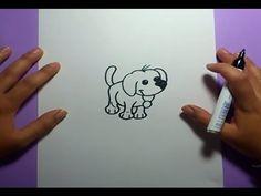 Una forma sencilla y rapida de hacer un dibujo de un perro en poco tiempo y de forma facil. Musica : byebyecopyright Cancion : Ben Stereomode - Walking Spiri...
