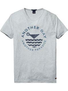 Meliertes T-Shirt                                                                                                                                                                                 Mehr