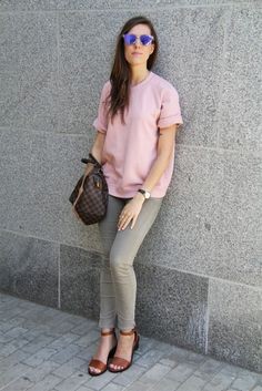 Outfit: Dusty Pink & Olive Green | The Pastel Project