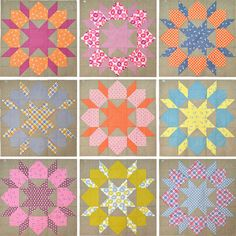 love the color combos in these @Camille Roskelley Swoon blocks