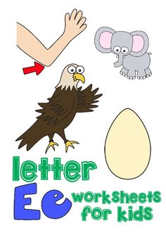 FREE 7 PAGE LETTER E PACK (Instant Download)