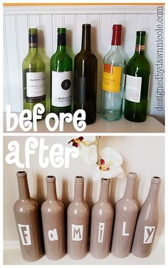 Great use for empty wine bottles!