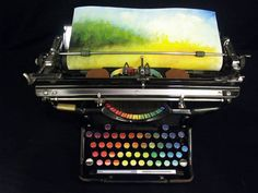 The Chromatic Typewriter,Artwork by Tyree Callahan #artpeople
