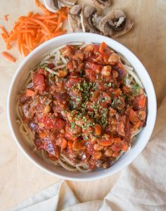THIS 10-Minute Chickpea Bolognese Pasta is the perfect crowd-pleasing dish for nights when you don't think you have time to cook. Anyone who wonders what vegan dish they can cook for meat-lovers should try this. It's plant-based, gluten-free, and SO delicious